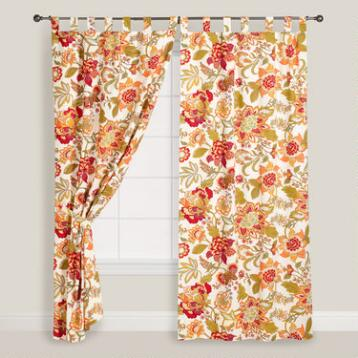 Floral Kavita Cotton Tab Top Curtain